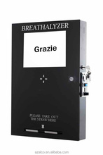 Wall mount coin operated smart breathalyzer vending machine for Italian