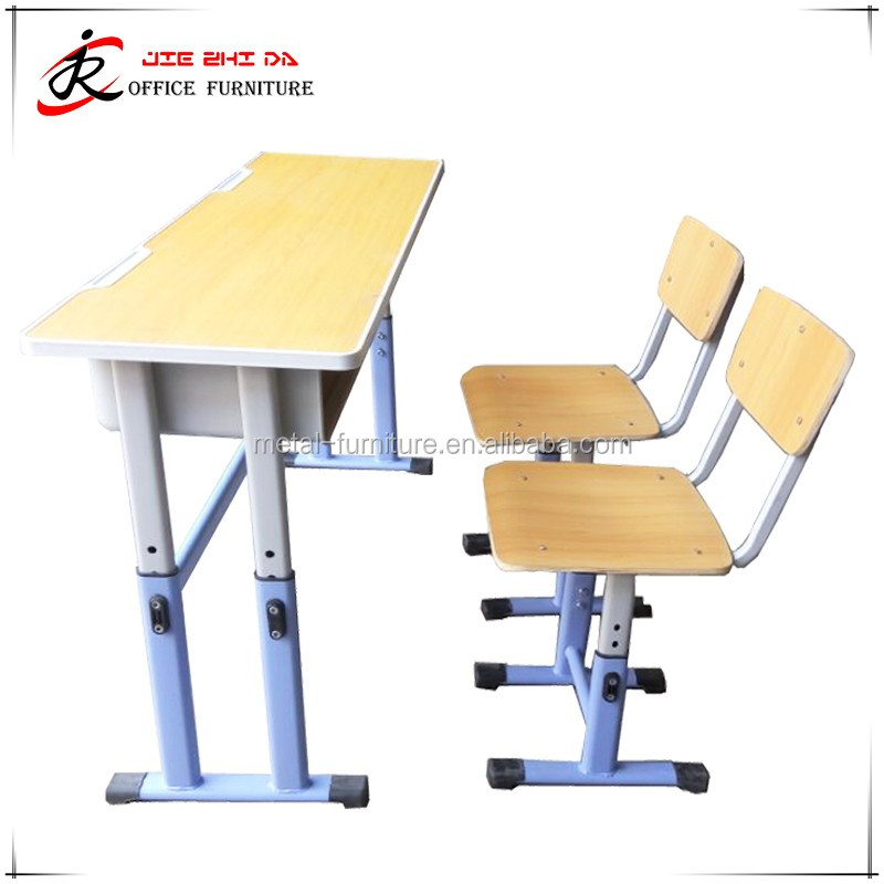 Classroom school furniture hight adjustable syudy modern cheap student desk and chair