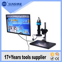 Factory price USB/TF Card/DC/HDMI interface digital electron camera microscope with 10 inches display scanning