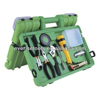 80pcs car emergency kit and hand tool set in blow mold case