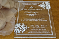 Romantic Acrylic Wedding Invitation/party supplies wedding