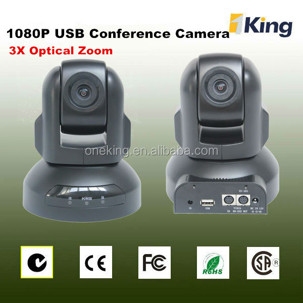 USB 2.0 webcam driver China 3x video auto tracking classroom lecture camera
