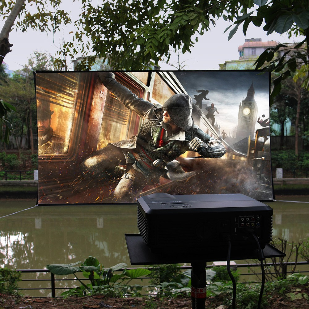 cheap 100inch foldable portable projection screen with matte 16:9 apsect ratio