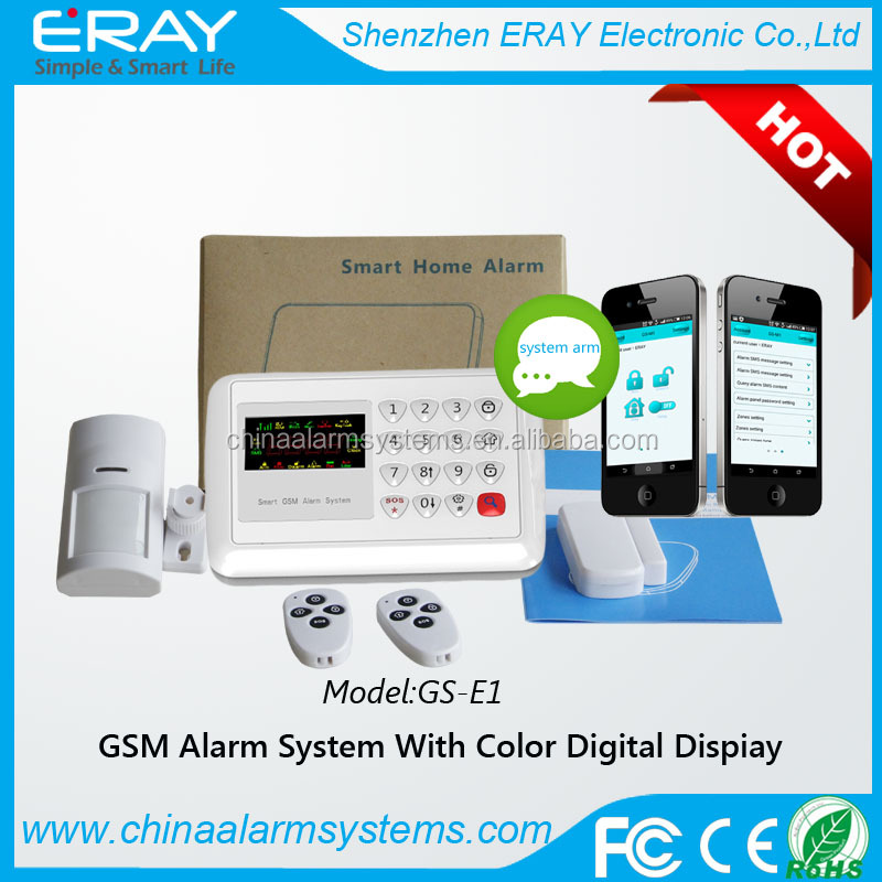 wireless alarm system gsm oem with 120 wireless defense zones/APP control
