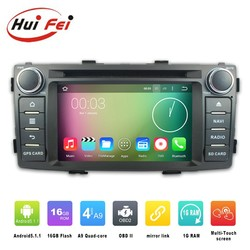 2016 Android 5.1.1 double din car radio for Toyota hilux 2012 car radio dvd gps navigation system bluetooth multimedia player
