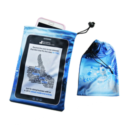customized logo Micro fiber cleaning pouch for Ipad