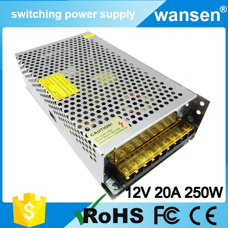 250W stabilized dc power supply switch 12V 20A led driver