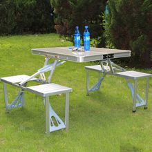 Outdoor camping picnic portable aluminum folding table