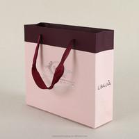 light pink paper bag for apparel