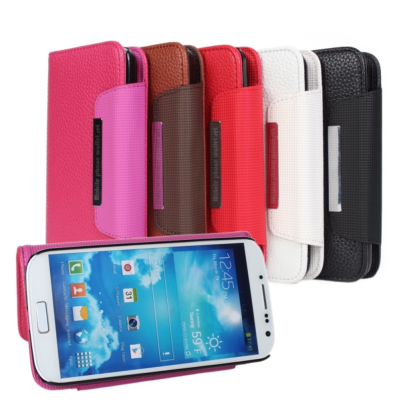 S4 Luxury Wallet Stand Design Leather Case for Samsung Galaxy S4 i9500 SIV Mobile Phone Bag Flip Cover 2 in 1 leather case