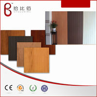 wood grain pvc laminated steel panel(ROHS) for wall decoration wood panel
