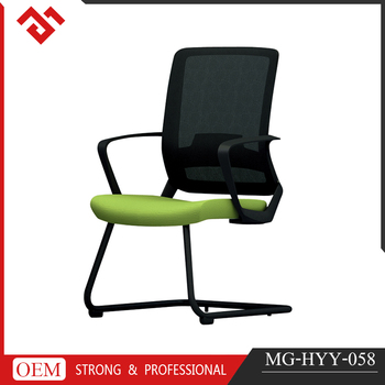 Green Confortable conference office chair, elegant indoor meeting chair