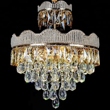 American style vintage hanging lamp decoration crystal chandelier pendant light