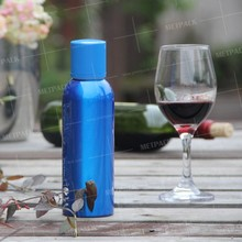 Fashion large tequila blue bottle made of aluminum