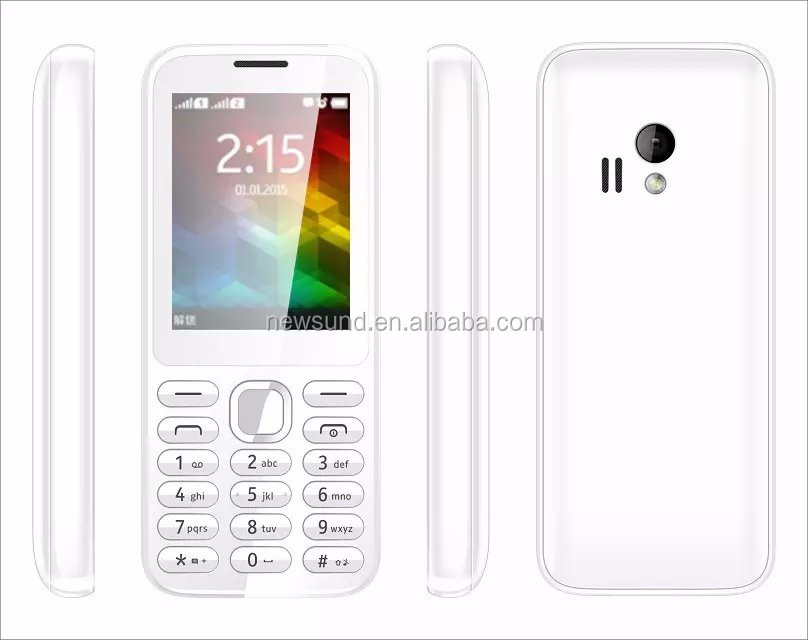 wholesale original 2.4'' screen dual sim quad band celulares chinos