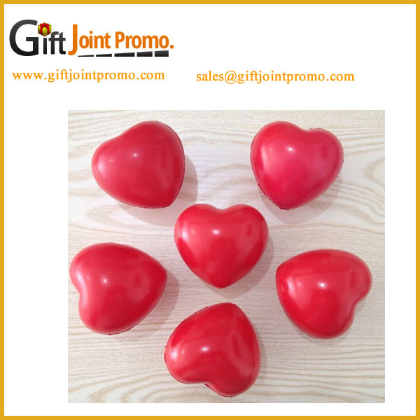 China Factory Red Heart Love PU Foam Stress Ball with Customized LOGO