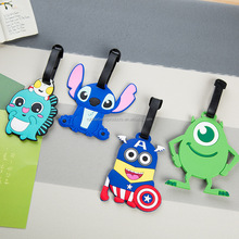 Pvc Travel Luggage Tag Cartoon Custom Silicone Luggage Tag Name Tag Boarding Cards For Bag