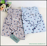 MEN'S COTTON WOVEN SLEEPWEAR/PYJAMA SET/PAJAMA SETS COTTON MEN NIGHTGOWN GVBS0009