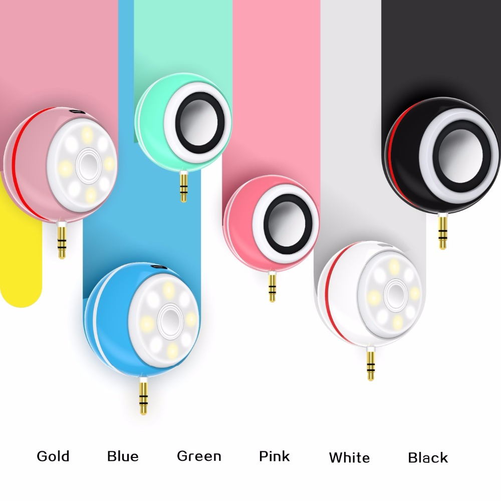 2018 New Design <strong>Mini</strong> 3 in 1 Plug And Play Selfie Beauty Wireless Speaker Light LED For Mobile Phone/PC