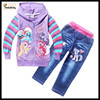 kids wholesale winter clothes my little pony childrens boutique clothing hoodies with pants 2 pcs long Sleeve hoodies + pants