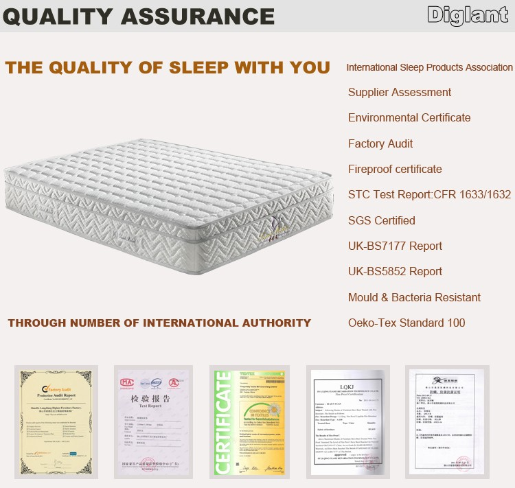 "Diglant Casper 10"" Serenity Gel Memory Foam Mattress Bed Full Size Made In China"