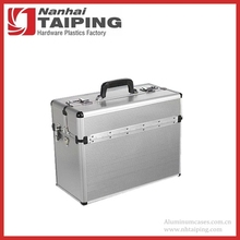 Silver Pilot Style Tough Aluminum Tool Carry Case Storage Box