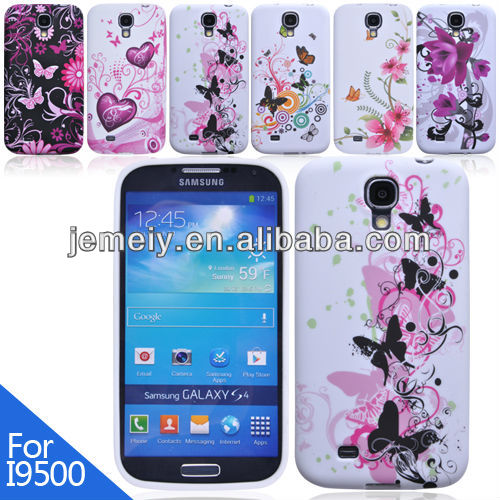 Softy flower pattern for Samsung Galaxy S4 i9500 tpu cellphone cases