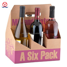 Factory Recycled Custom Carrier OEM Paper cardboard 6 Bottle Wine Box