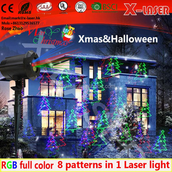 Led christmas lights Waterproof RGB garden laser lighting, Outdoor laser christmas lights, Landscape laser projector