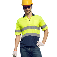 New Design High Quality Men's Custom Reflective <strong>Safety</strong> Clothing Polo Shirt