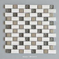 Hot sale marble and glass mosaic tiles