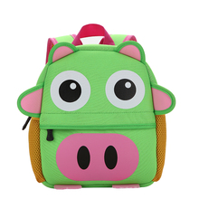 Hot selling cute animal neoprene backpack/school bag for kids