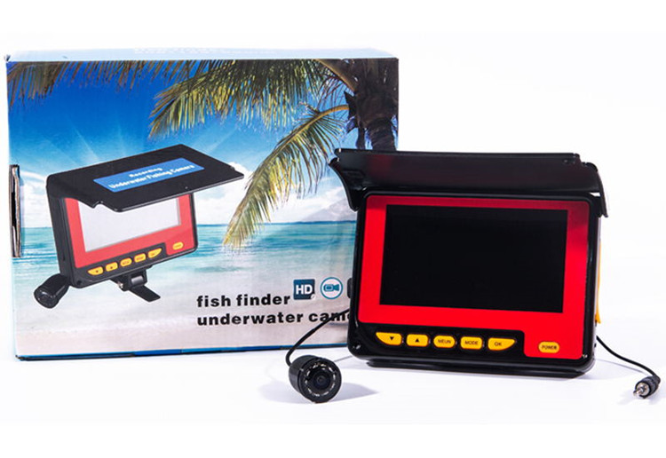 Fish Camera Underwater Fishing Camera Video Recorder 20M Cable 4.3'' HD LCD 1000TVL Fishfinder Camera