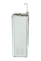 Stainless steel floor standing chilled drinking water fountain with bottle filler
