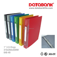 "Office School Stationary A4 PP Filing 1"" 3 O-Ring Ring Binder"