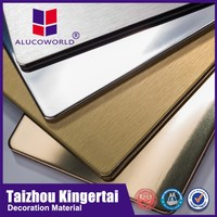 Alucoworld cnc router brushed finished/ aluminum material aluminum composite panel