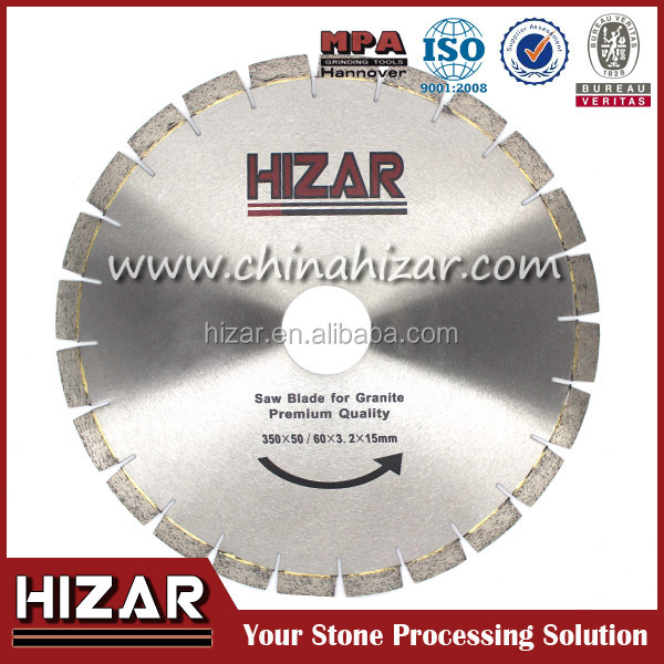 350mm normal shape diamond segment sawblade,granite stone edge cutting diamond circular saw blade