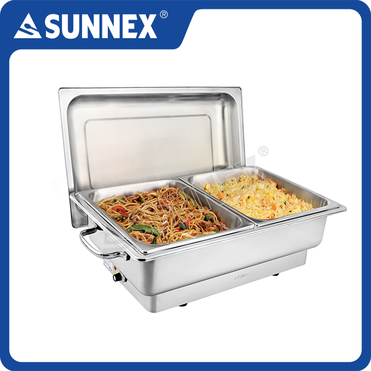 SUNNEX Food Warmer For Catering Buffet Chafer Electric Chafing Dish