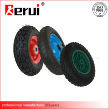 Wholesale Manufacture Pneumatic small Rubber trolley Wheels with different size