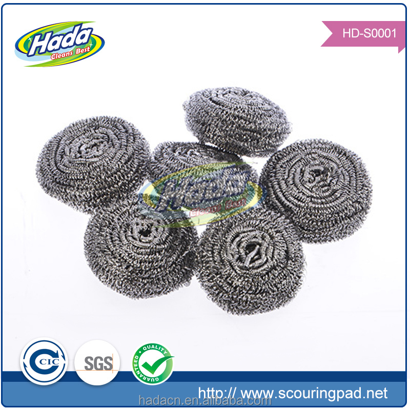Household cleaning steel wool ball clean the pot stainless steel mesh scourer