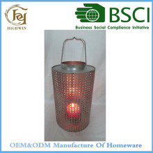 Metal Galvanized Wedding Lanterns and lamps Candle Holders