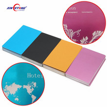 Best quality Customize Printing Blank Metal Anodized Aluminum Business gift thank you Card