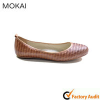 Genuine Leather Casual Falt Ballet Shoe
