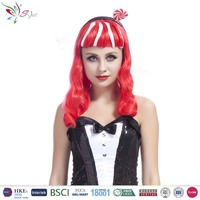 Styler Brand wholesale synthetic party wig cheap white red wigs for halloween