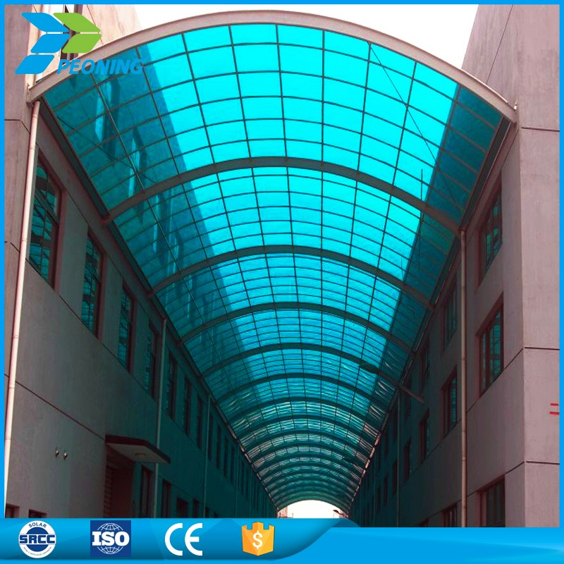 China goods import polycarbonate hollow sheet green house carport solar panel