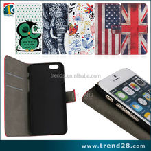 alibaba Patriotic flag credit card slot wallet leather case for iphone 6