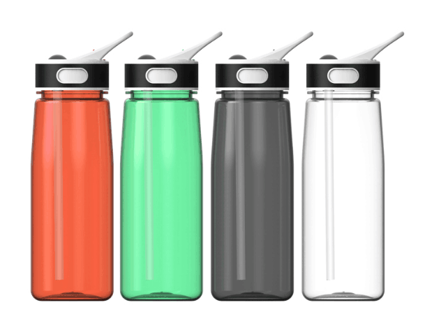 new water bottle with straw,800ML big volume water bottle in different colors