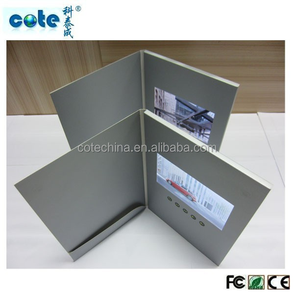 7'' LCD greeting card with video for mobile phone marketing