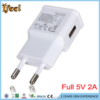 Flat Slim EU/US USB Wall Charger 5V 2A For iphone 5/5S,6/6PUS for Samsung Galaxy S5/S6 TABLET PC
