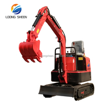 LX08-9 mini excavator agricultural digging machine